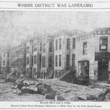 3: First Street NE Houses Razed for Union Station, 1904