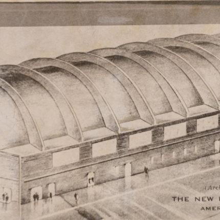 17: Architect Sketch of M.J. Uline Ice Company & Arena, 1940
